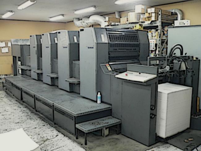 オフセット印刷機加工heidelberg